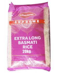 CF SUPREME EXTRA LONG BASMATI RICE 20KG