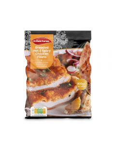Crown Farms Breaded Hot And Spicy Chicken Fillets 800g