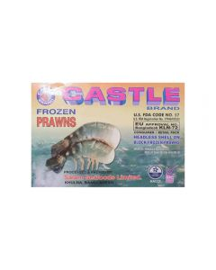 Castle King Prawns Head Less Shell On 6-8 700g