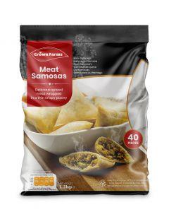 Crown Farms Meat Samosas 40pcs