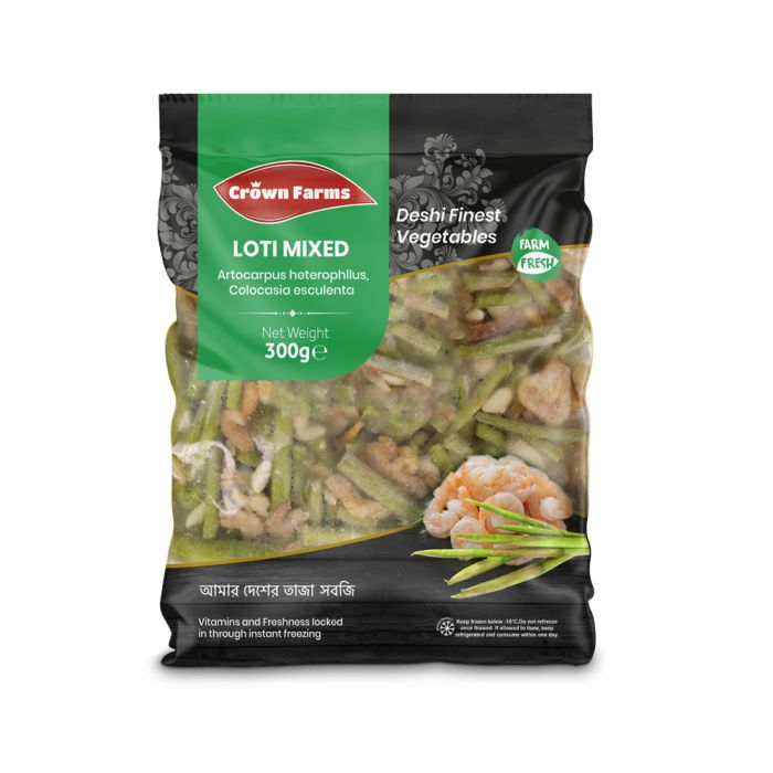 Crown Farms Prawn And Vegetable Mix 300g