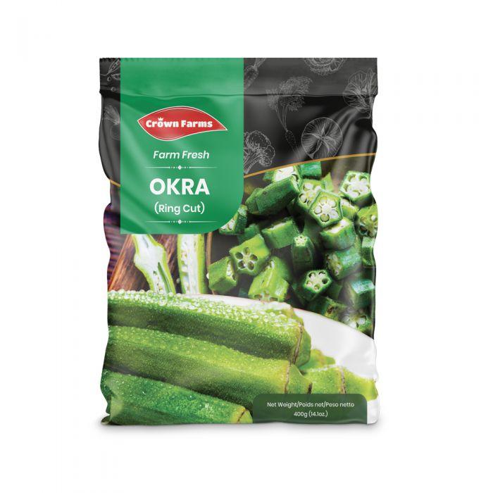 Crown Farms IQF Okra Rings 400g