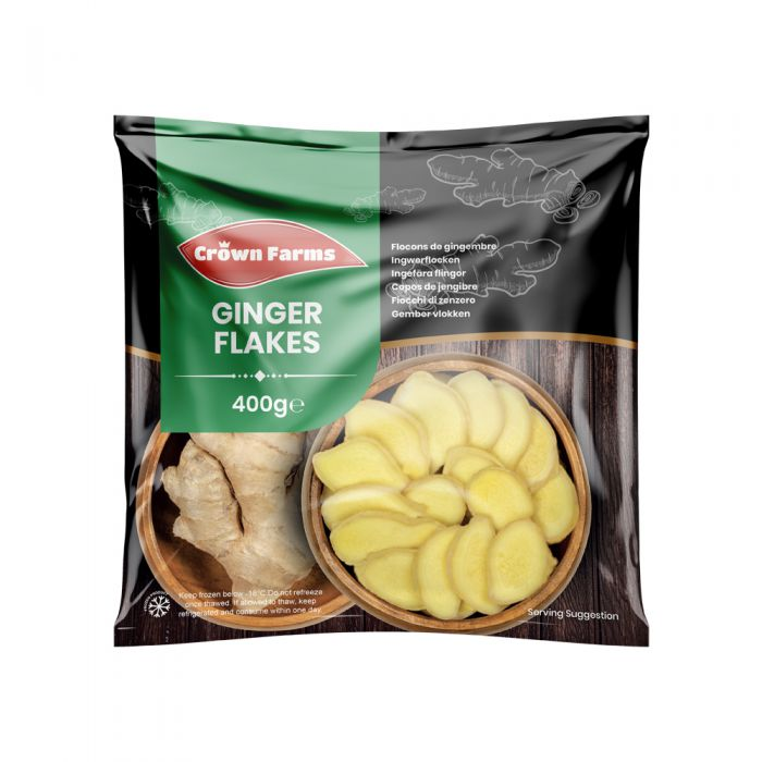 Crown Farms Ginger Flakes IQF 400g