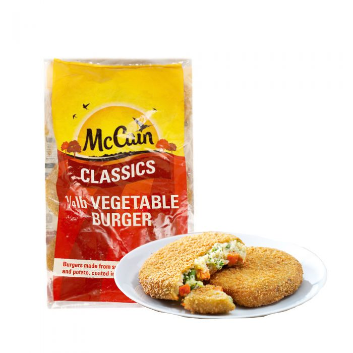 Mc Cain Vegetable Burger 1/4 Pound 30 x 113g