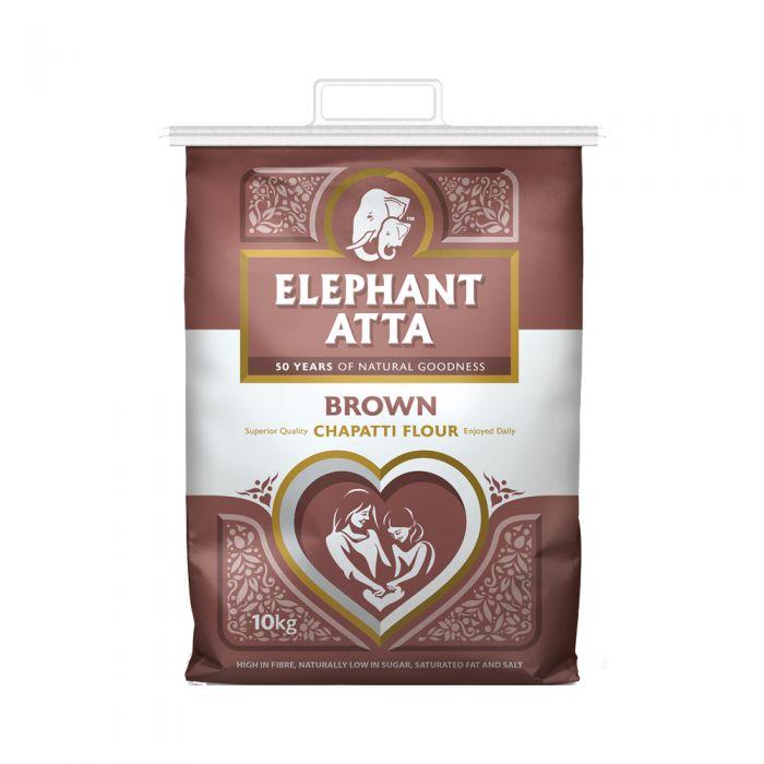 Elephant Atta Wheat (Chapatti) Flour Brown 10kg