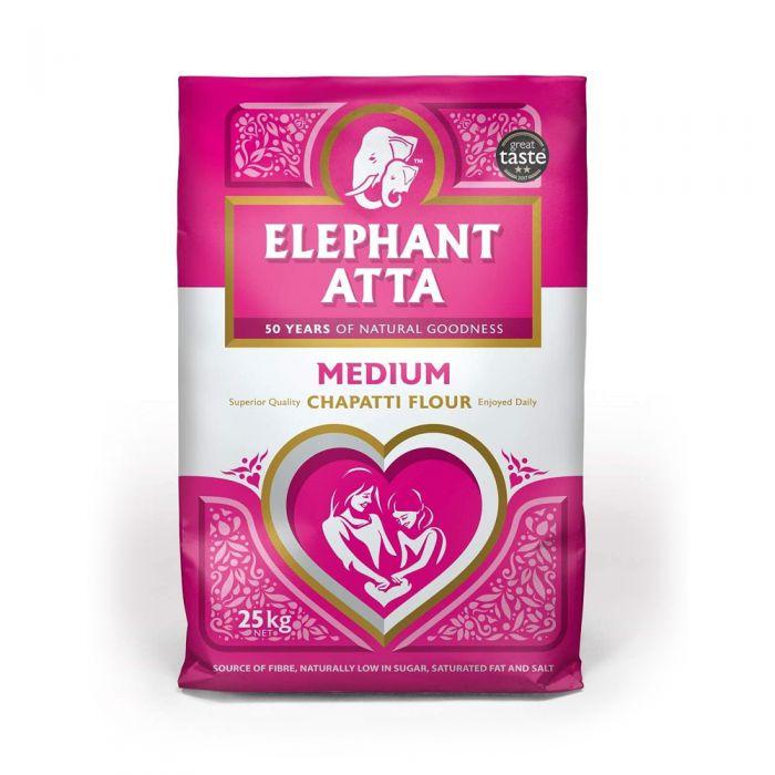 Elephant Atta Wheat (Chapatti) Flour Medium 25kg