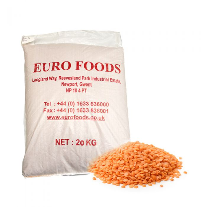 Crown Farms Red Lentils Split 20kg