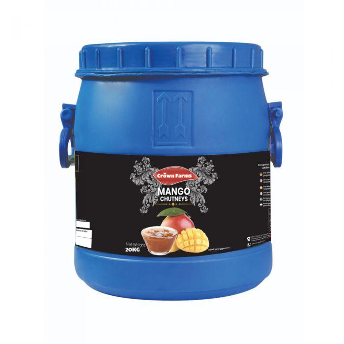 Crown Farms Mango Chutney Sweet Catering Barrel 20kg