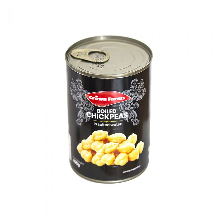 Crown Farms Easy Open Boiled Chick Peas 400g