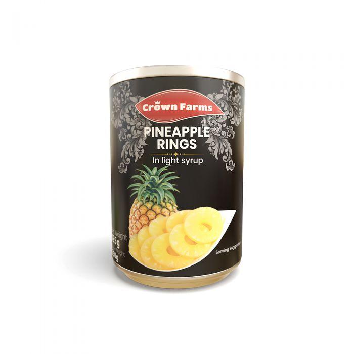 Crown Farms Pineapple Rings 400g
