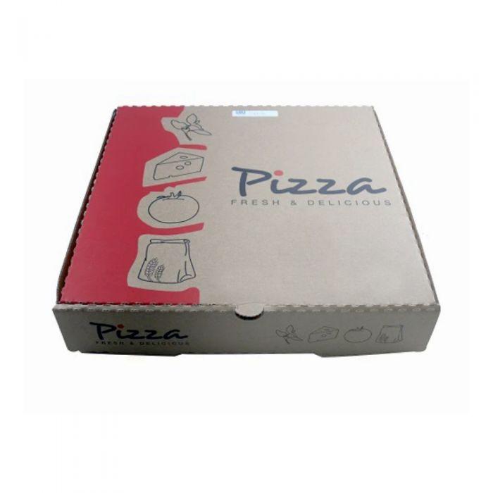 Pizza Box Brown 10