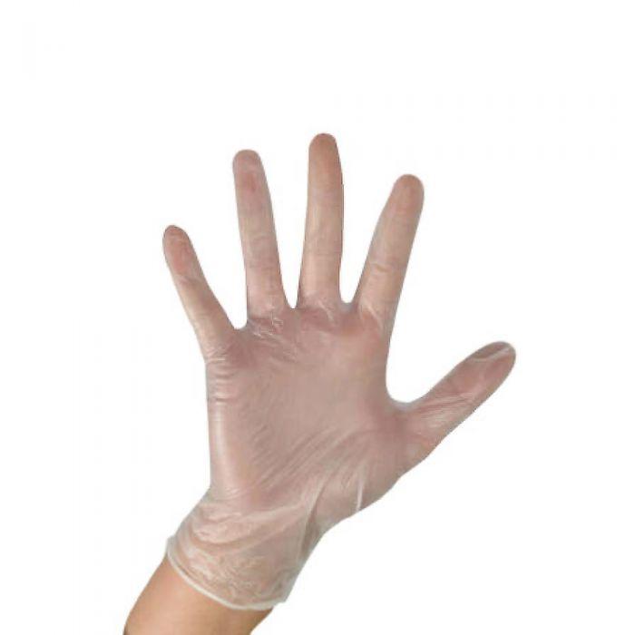 Clear Vinyl Gloves Powder Free Large 100pcs